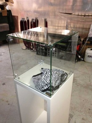 Glass Cube and Plinth