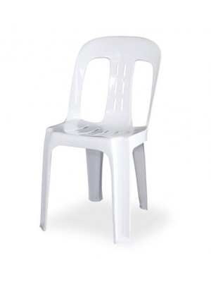 Stackable White Plastic Chair